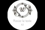 Monogramme classique Étiquettes Voyantes - gabarit prédéfini. <br/>Utilisez notre logiciel Avery Design & Print Online pour personnaliser facilement la conception.