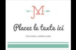 Monogramme Cartes Et Articles D'Artisanat Imprimables - gabarit prédéfini. <br/>Utilisez notre logiciel Avery Design & Print Online pour personnaliser facilement la conception.