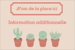 Plantes en pot fantaisistes Étiquettes rectangulaires - gabarit prédéfini. <br/>Utilisez notre logiciel Avery Design & Print Online pour personnaliser facilement la conception.