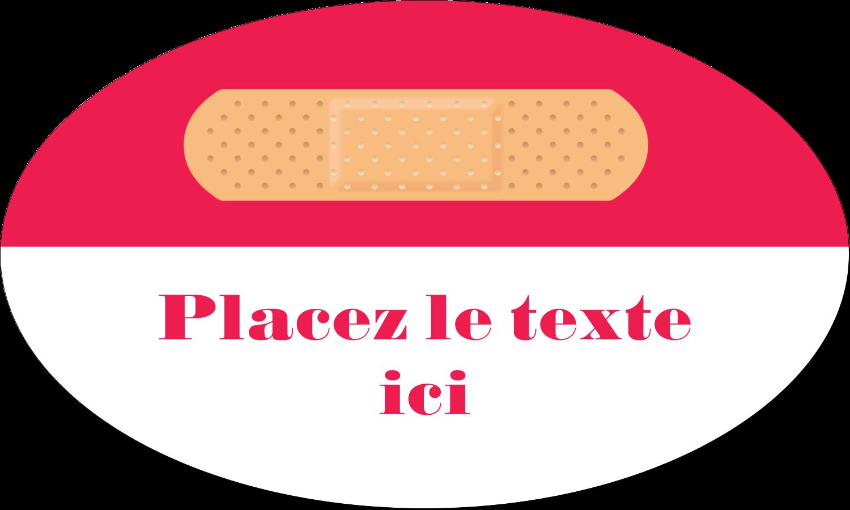 """1½"""" x 1½"""" Étiquettes carrées - Pansement"""