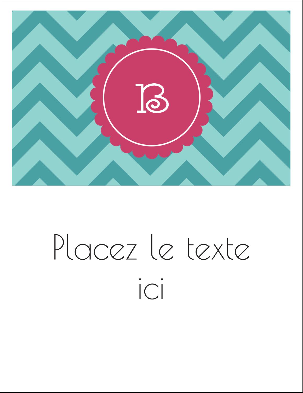 """1¾"""" x ½"""" Étiquettes D'Adresse - Monogramme en chevron"""