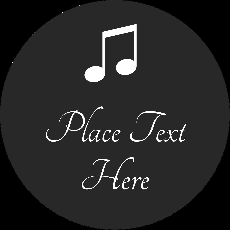 "2½"" Round Label - Music Keyboard"
