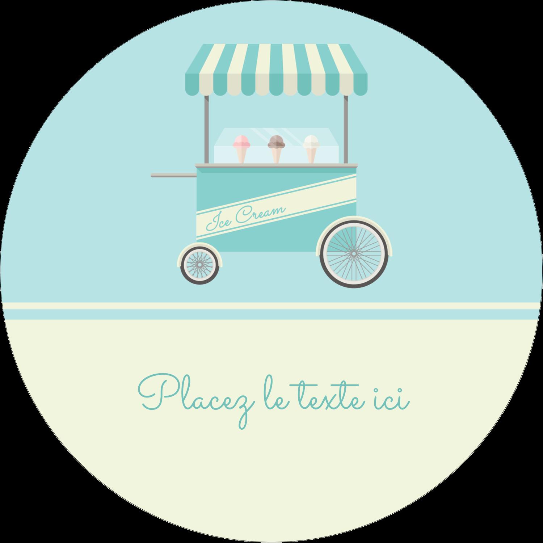 """3-7/16"""" x 15/16"""" Étiquettes de classement - Chariot à crème glacée"""