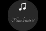 Clavier musical Étiquettes rondes - gabarit prédéfini. <br/>Utilisez notre logiciel Avery Design & Print Online pour personnaliser facilement la conception.