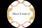 Tuile marocaine saumon Étiquettes rondes - gabarit prédéfini. <br/>Utilisez notre logiciel Avery Design & Print Online pour personnaliser facilement la conception.
