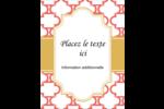 Tuile marocaine saumon Carte Postale - gabarit prédéfini. <br/>Utilisez notre logiciel Avery Design & Print Online pour personnaliser facilement la conception.