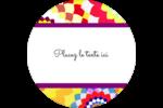 Baume à lèvres kaléidoscope Étiquettes arrondies - gabarit prédéfini. <br/>Utilisez notre logiciel Avery Design & Print Online pour personnaliser facilement la conception.