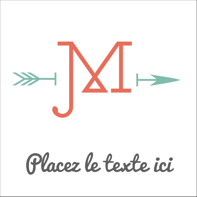 """2"""" Diameter Étiquettes rondes - Monogramme"""