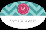 Monogramme en chevron Étiquettes carrées - gabarit prédéfini. <br/>Utilisez notre logiciel Avery Design & Print Online pour personnaliser facilement la conception.