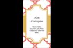 Tuile marocaine saumon Carte d'affaire - gabarit prédéfini. <br/>Utilisez notre logiciel Avery Design & Print Online pour personnaliser facilement la conception.