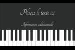 Clavier musical Carte d'affaire - gabarit prédéfini. <br/>Utilisez notre logiciel Avery Design & Print Online pour personnaliser facilement la conception.