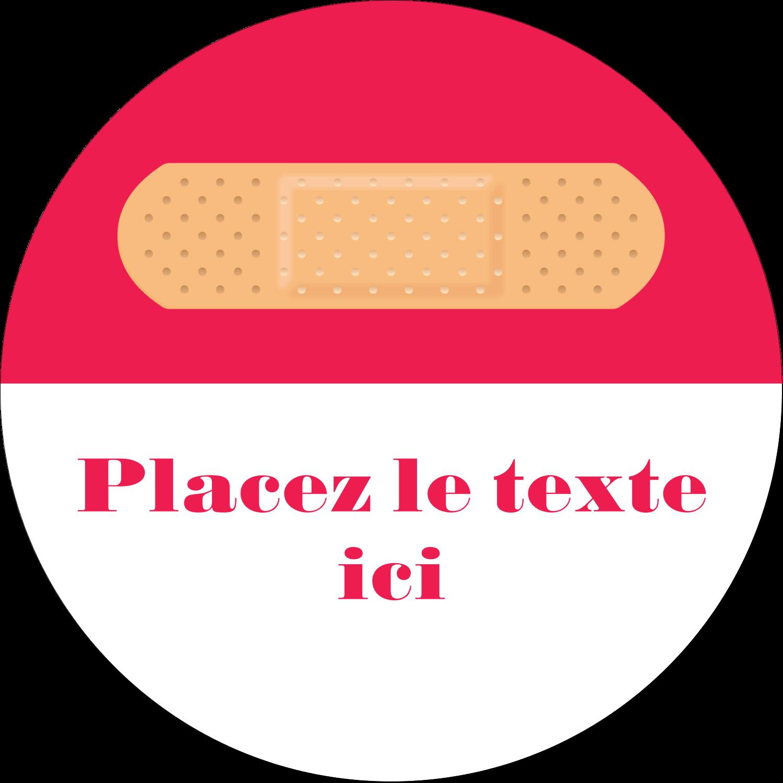 """2¼"""" x ¾"""" Étiquettes Voyantes - Pansement"""