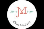 Monogramme Étiquettes Voyantes - gabarit prédéfini. <br/>Utilisez notre logiciel Avery Design & Print Online pour personnaliser facilement la conception.