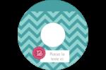 Monogramme en chevron Étiquettes de classement - gabarit prédéfini. <br/>Utilisez notre logiciel Avery Design & Print Online pour personnaliser facilement la conception.