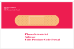 Pansement Étiquettes d'adresse - gabarit prédéfini. <br/>Utilisez notre logiciel Avery Design & Print Online pour personnaliser facilement la conception.