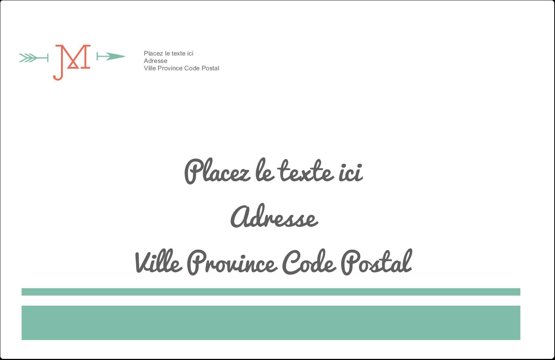"""1½"""" x 4"""" Étiquettes d'adresse - Monogramme"""