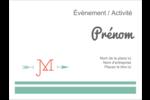 Monogramme Badges - gabarit prédéfini. <br/>Utilisez notre logiciel Avery Design & Print Online pour personnaliser facilement la conception.