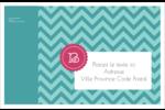 Monogramme en chevron Étiquettes d'adresse - gabarit prédéfini. <br/>Utilisez notre logiciel Avery Design & Print Online pour personnaliser facilement la conception.