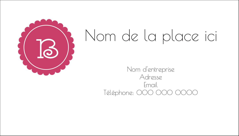 """2"""" x 3½"""" Carte d'affaire - Monogramme en chevron"""