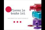 Flacons de vernis Étiquettes rondes gaufrées - gabarit prédéfini. <br/>Utilisez notre logiciel Avery Design & Print Online pour personnaliser facilement la conception.