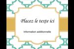 Tuile marocaine sarcelle Étiquettes rondes gaufrées - gabarit prédéfini. <br/>Utilisez notre logiciel Avery Design & Print Online pour personnaliser facilement la conception.