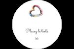 Vernis à ongles en cœur Étiquettes rondes gaufrées - gabarit prédéfini. <br/>Utilisez notre logiciel Avery Design & Print Online pour personnaliser facilement la conception.