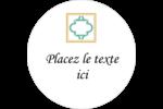 Tuile marocaine sarcelle Étiquettes arrondies - gabarit prédéfini. <br/>Utilisez notre logiciel Avery Design & Print Online pour personnaliser facilement la conception.