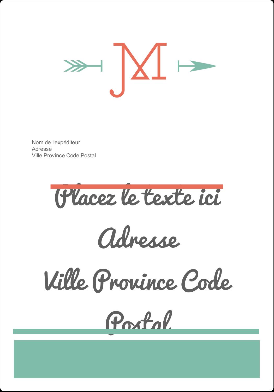 """⅔"""" x 1¾"""" Étiquettes D'Adresse - Monogramme"""