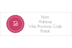 Monogramme en chevron Intercalaires / Onglets - gabarit prédéfini. <br/>Utilisez notre logiciel Avery Design & Print Online pour personnaliser facilement la conception.