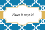 Tuile marocaine bleue Étiquettes rectangulaires - gabarit prédéfini. <br/>Utilisez notre logiciel Avery Design & Print Online pour personnaliser facilement la conception.