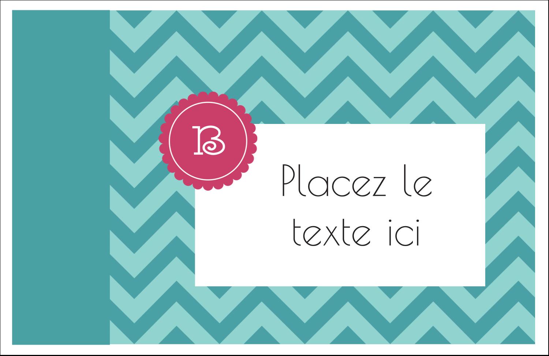 """8½"""" x 11"""" Cartes Et Articles D'Artisanat Imprimables - Monogramme en chevron"""