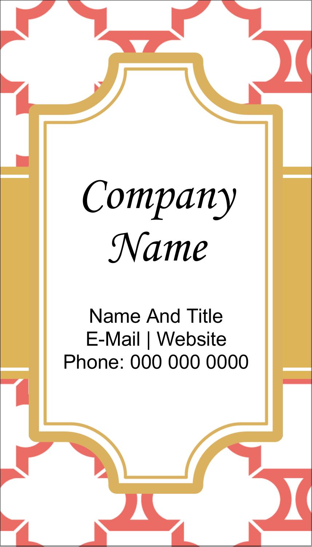 "2"" x 3½"" Business Card - Moroccan Tile Salmon"