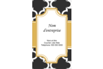 Tuile marocaine noire Carte d'affaire - gabarit prédéfini. <br/>Utilisez notre logiciel Avery Design & Print Online pour personnaliser facilement la conception.