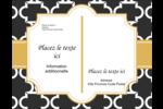 Tuile marocaine noire Carte Postale - gabarit prédéfini. <br/>Utilisez notre logiciel Avery Design & Print Online pour personnaliser facilement la conception.