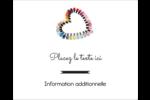Vernis à ongles en cœur Étiquettes rectangulaires - gabarit prédéfini. <br/>Utilisez notre logiciel Avery Design & Print Online pour personnaliser facilement la conception.