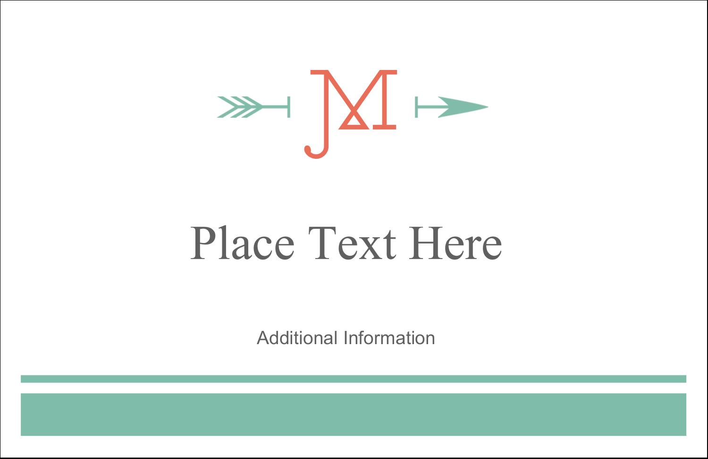 "5½"" x 8½"" Greeting Card - Monogram"