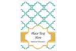 Add old-world charm to modern projects with pre-designed Moroccan Tile Teal templates.