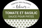 Sauce pour pâtes classique tomates et basilic Étiquettes ovales festonnées - gabarit prédéfini. <br/>Utilisez notre logiciel Avery Design & Print Online pour personnaliser facilement la conception.