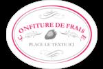 Confiture de fraises à l'ancienne Étiquettes ovales festonnées - gabarit prédéfini. <br/>Utilisez notre logiciel Avery Design & Print Online pour personnaliser facilement la conception.
