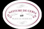 Confiture de cerises à l'ancienne Étiquettes ovales festonnées - gabarit prédéfini. <br/>Utilisez notre logiciel Avery Design & Print Online pour personnaliser facilement la conception.