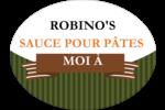 Sauce italienne à la viande pour pâtes Étiquettes ovales - gabarit prédéfini. <br/>Utilisez notre logiciel Avery Design & Print Online pour personnaliser facilement la conception.