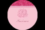 Baume à lèvres Étiquettes rondes - gabarit prédéfini. <br/>Utilisez notre logiciel Avery Design & Print Online pour personnaliser facilement la conception.