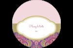 Baume à lèvres cachemire pourpre Étiquettes rondes - gabarit prédéfini. <br/>Utilisez notre logiciel Avery Design & Print Online pour personnaliser facilement la conception.