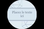 Sphères modernes pour typographie Étiquettes rondes - gabarit prédéfini. <br/>Utilisez notre logiciel Avery Design & Print Online pour personnaliser facilement la conception.