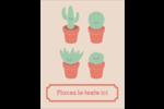 Plantes en pot fantaisistes Carte Postale - gabarit prédéfini. <br/>Utilisez notre logiciel Avery Design & Print Online pour personnaliser facilement la conception.