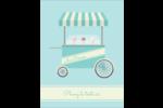 Chariot à crème glacée Carte Postale - gabarit prédéfini. <br/>Utilisez notre logiciel Avery Design & Print Online pour personnaliser facilement la conception.