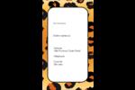 Imprimé léopard Carte d'affaire - gabarit prédéfini. <br/>Utilisez notre logiciel Avery Design & Print Online pour personnaliser facilement la conception.