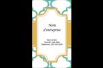 Tuile marocaine sarcelle Carte d'affaire - gabarit prédéfini. <br/>Utilisez notre logiciel Avery Design & Print Online pour personnaliser facilement la conception.
