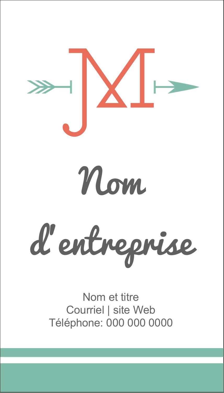 """3½"""" x 2"""" Carte d'affaire - Monogramme"""