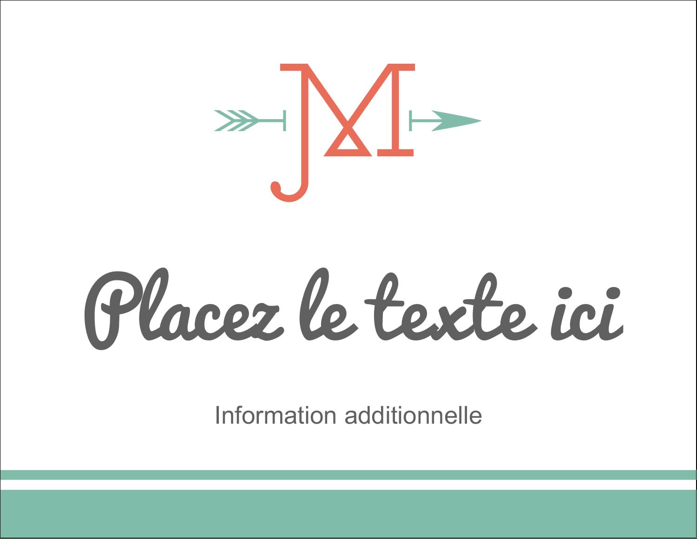 "4¼"" X 5½"" Carte Postale - Monogramme"